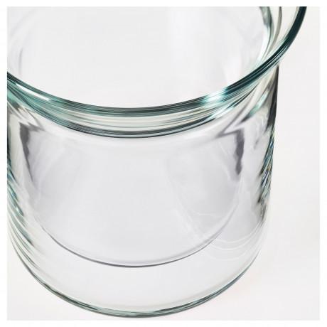 Стакан АВРУНДАД двуслойные стенки, прозрачное стекло фото 5